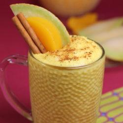 desert cu brânză și fructe